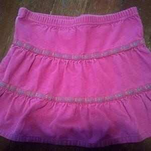 Hanna Andersson pink corduroy skirt